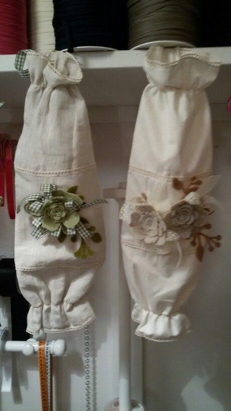Porta sacchetti con decori in feltro