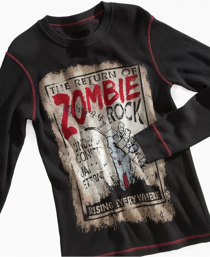 Industry 9 Kids T-Shirt, Boys Zombie Rock Thermal Tee - Kids Boys 8-20 - Macy's