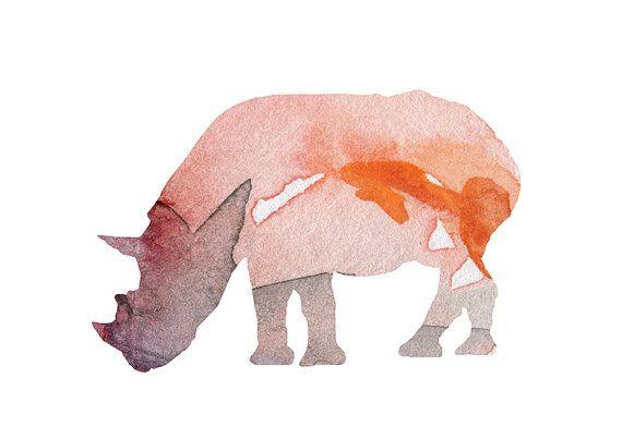 Neushoorn illustratie  digitaal bewerkt  door Lemonillustrations