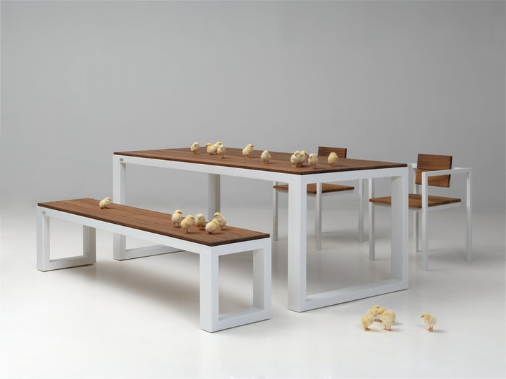 Urban tafel, bank en stoel