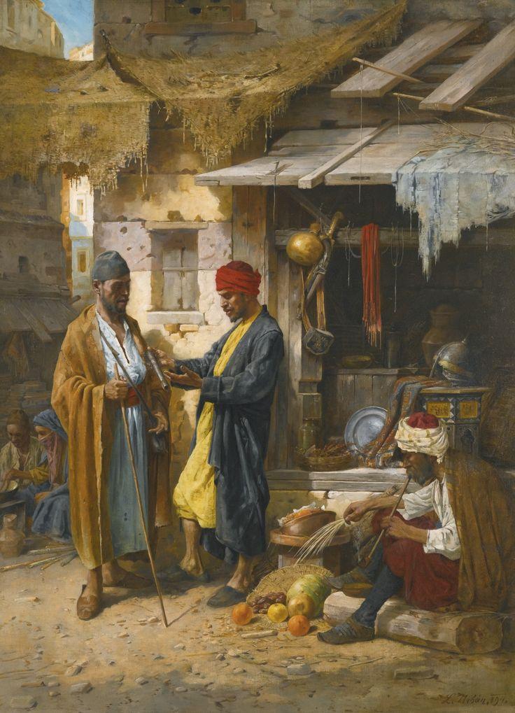 """An Eastern Market"". (by L. Urbán)."