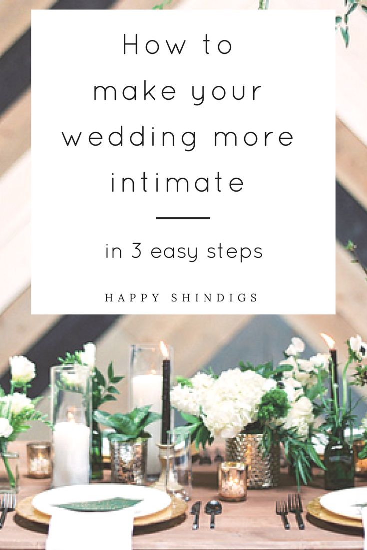 Make your wedding feel intimate and cozy no matter how big or small your guest count or budget is. To find out my 3 easy ways how, click through to the full post!