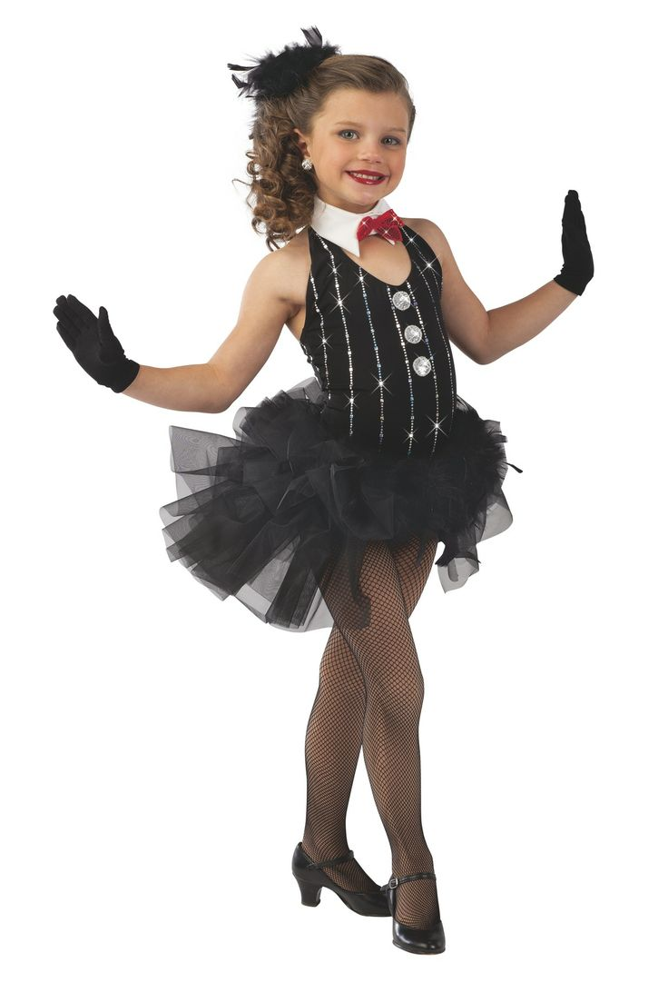 Maybe minus the collar - halter black leo, black booty shorts with attached tulle....