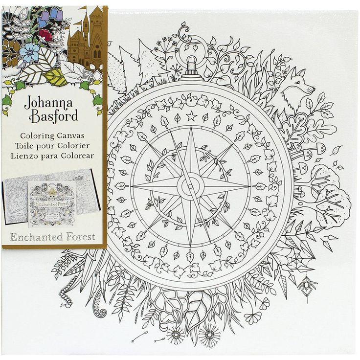 Johanna Basford Compass Colouring Canvas 12 X Cm