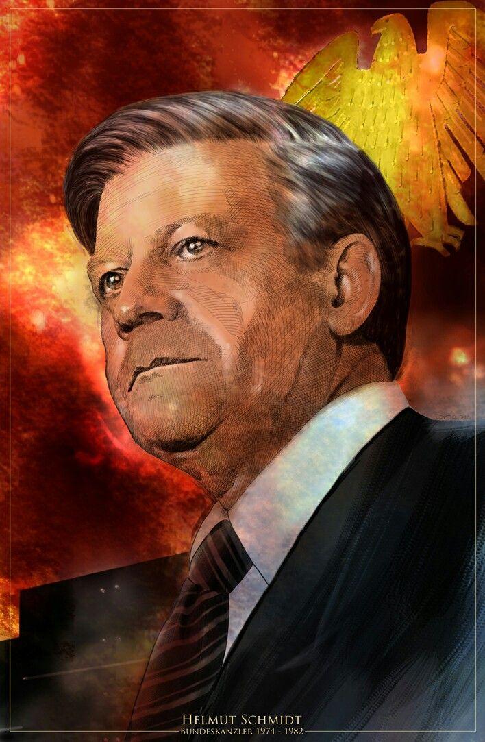 Helmut Schmidt. Als Poster erhältlich auf meiner Webseite: goo.gl/jvgwQl