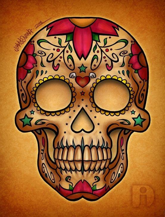 Картинки черепа разноцветные