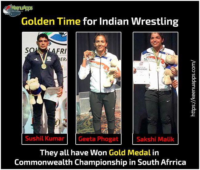 Congratulations India +Geeta Phogat FC @Sakshi Malik @Sushil Kumar