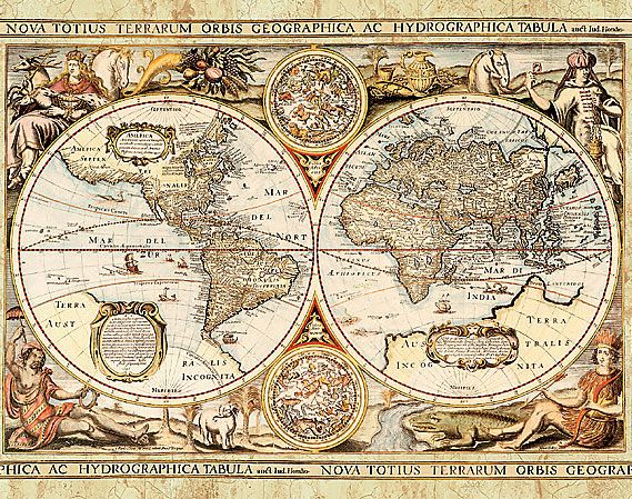Google image result for for Antique map mural