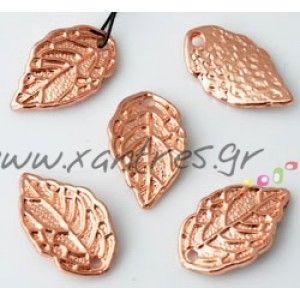 Φύλλο 16x10mm , απόχρωση ροζ χρυσό