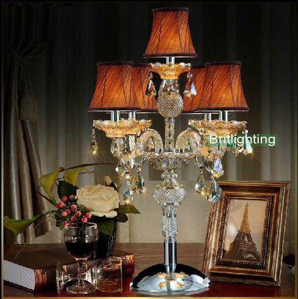 Современные настольные лампы, спальня светодиодные настольные свет свечи современные прикроватные тумбочки, настольные лампы канделябры свадьбы гостиной светодиодные настольные лампы