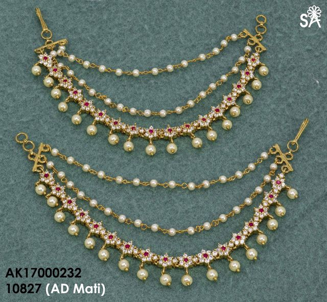 Exclusive Ear chains Collection | Buy Online Jewelly | 1 gram champasaralu | Elegant Fashion Wear