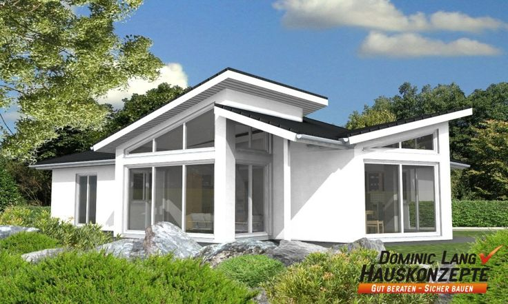fertighaus bungalow in wain home pinterest pultdachhaus fertigh user und moderne h user. Black Bedroom Furniture Sets. Home Design Ideas