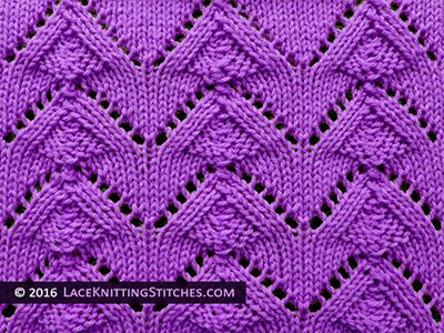 Lace Knitting Stitches Easy : 176 best images about Lace Knitting Stitches on Pinterest Lace knitting pat...