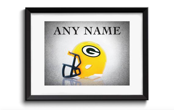 Personalized Green Bay Packers helmet,boys room decor,kids room decor,Green Bay Packers,football decor,sports wall art,sports decor