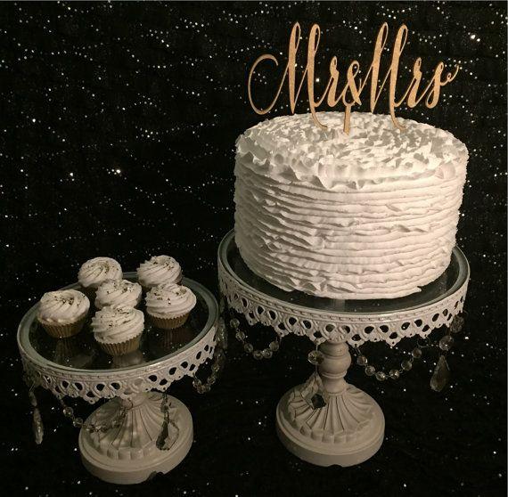 Mr. & Mrs. Cake Topper for Weddings by PSWeddingsandEvents on Etsy