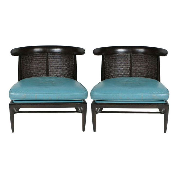 Pair of Tomilson Sophisticate Line Slipper Chairs   From a unique collection of antique and modern slipper chairs at http://www.1stdibs.com/furniture/seating/slipper-chairs/
