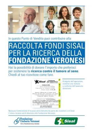 Sisal e Fondazione Veronesi insieme nella lotta contro il #tumore al #seno #iniziativespeciali #raccoltafondi