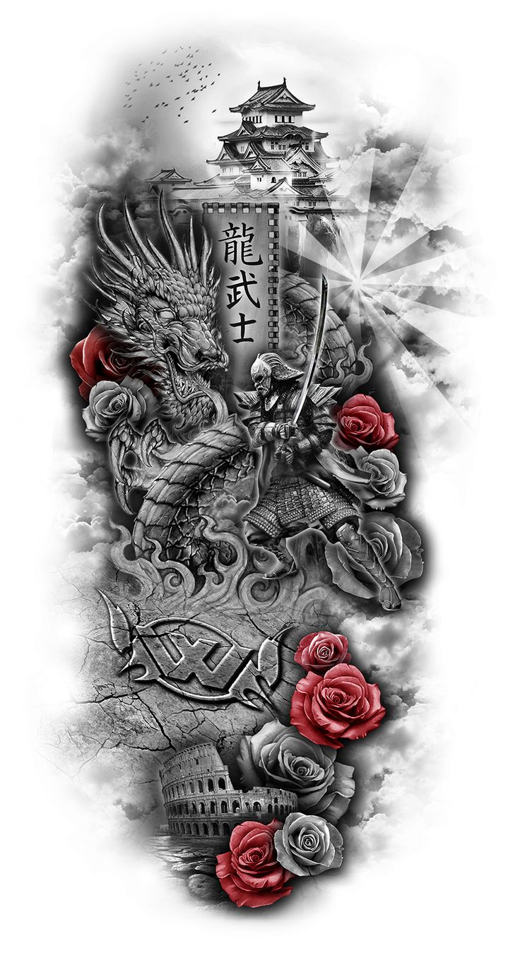 45 amazing japanese tattoo designs tattoo easily - Www Customtattoodesign Net Wp Content Uploads 2014 04 Full Sleeve Design Viking Dragon Tattooviking