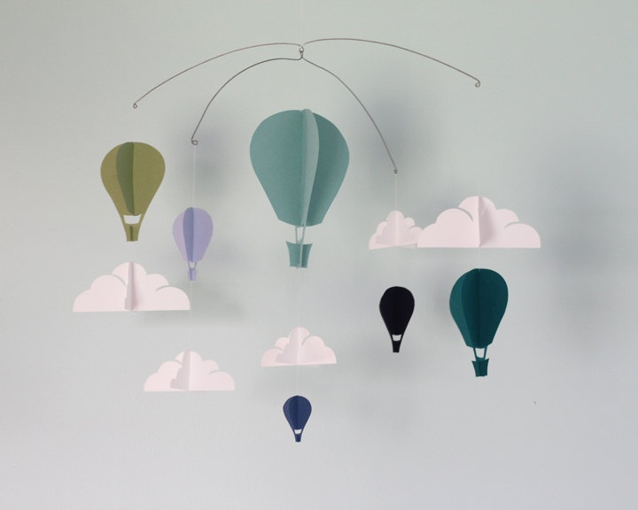 Simple Hot Air Balloon Paper Mobile