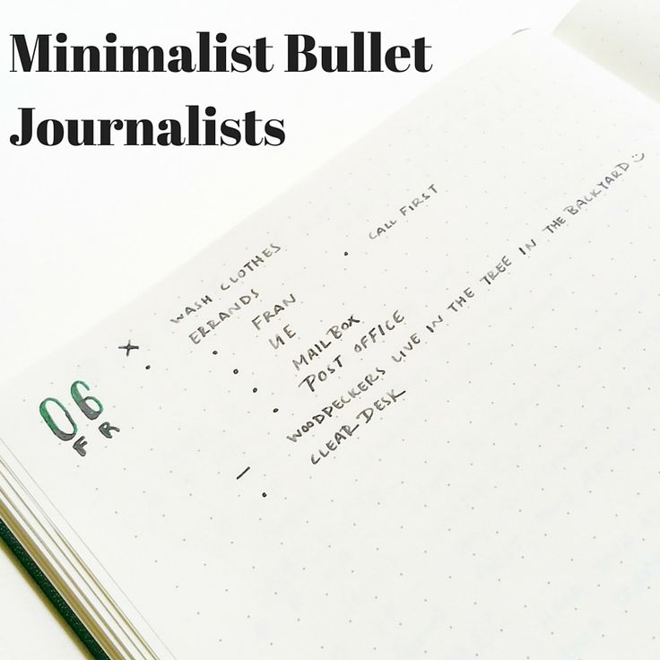 A list of minimalist Bullet Journalists to check out on Instagram. Compiled  with Bullet Journal newbies in mind so they could see a simple approach to  the Bullet Journal without the overwhelm that may come when they see all of  the Bullet Journal inspiration out there.