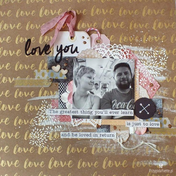 Walentynkowe LOVE na scrapie LO#33