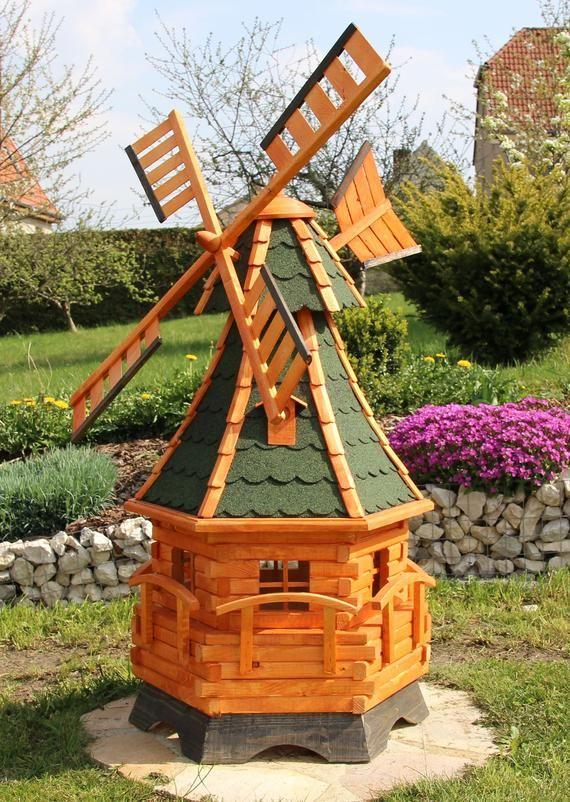 Large Windmill Windmills Wood Mill With Solar Lighting Type 12 1 Backyard Windmill Garden Windmill Solar Lights
