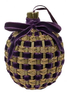 Lavender Nesting Ball, made from stems of lavender bunched up and turned inward of this ball.
