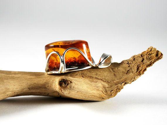Unique Baltic Amber Piece Handmade Pendant Amber by AmberAndMore