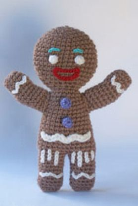 GINGY IS MY FAVORITE!!!! Gingerbread Man crochet pattern - Free Crochet Gingerbread Man Patterns - The Lavender Chair