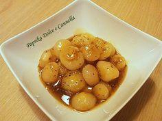 Le Cipolline in Agrodolce sono veramente deliziose!!! Come contorno ad un piatto di carne, magari arrostita, sono veramente sfiziose e saporite.