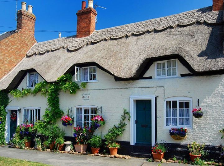 Thatched Cottage in Queniborough, Leicestershire, England.