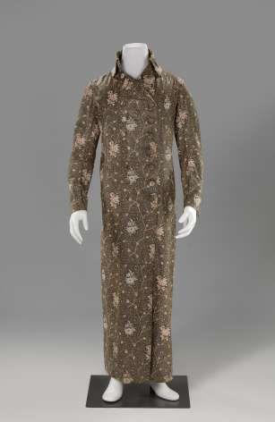 Floreale banyan, anoniem, c. 1795 - Coprire! Capispalla 1630-1940 - Cosa succede - Rijksmuseum