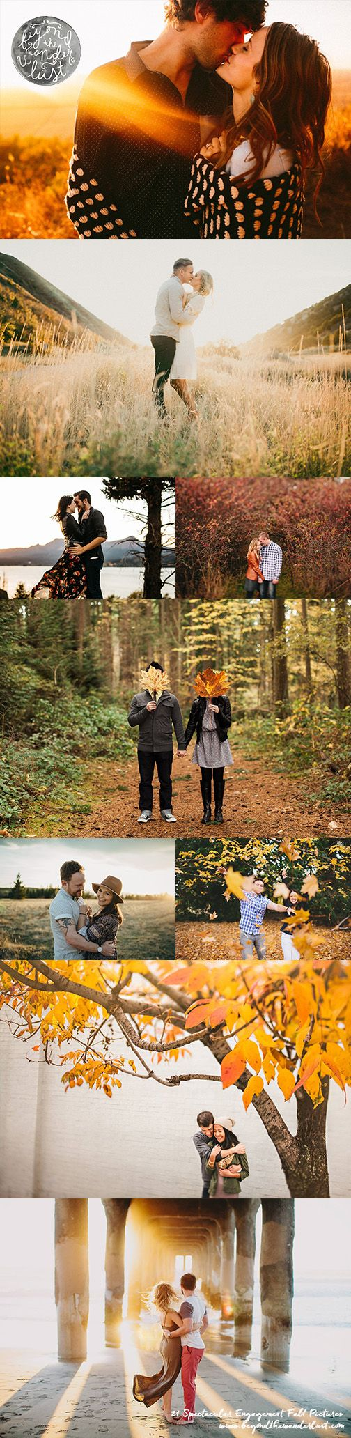 Fall engagement pictures, what to wear for engagement pictures