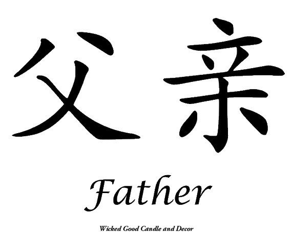 Vinyl Sign  Chinese Symbol  Father by WickedGoodDecor on Etsy, $8.99