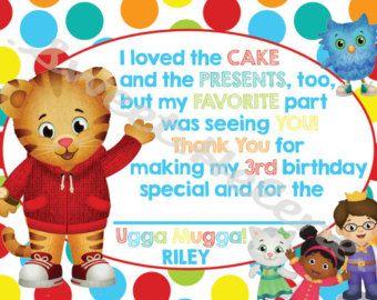 Daniel Tiger Birthday Invitation Daniel Tiger's by SweetHelene