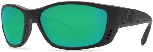 Costa Del Mar Sunglasses - Fisch- Glass / Frame: Blackout Lens: Polarized Green Mirror Wave 580 Glass. Style: Wrap. Frame: Plastic. Lens: Polarized Glass. Size: 63.5 mm x 18 mm x 130 mm. Gender: Male.