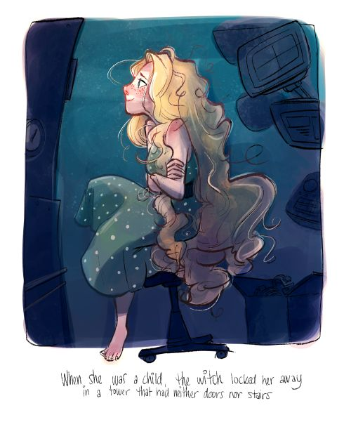 madidrawsthings:  Listening to Cress and this doodle started as...
