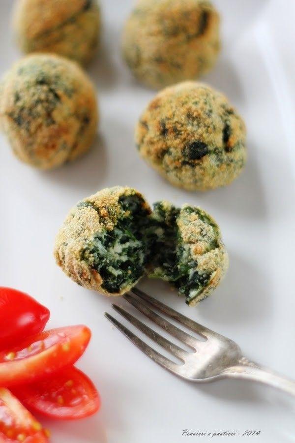 Polpettine ricotta e spinaci, leggerissime e croccanti!