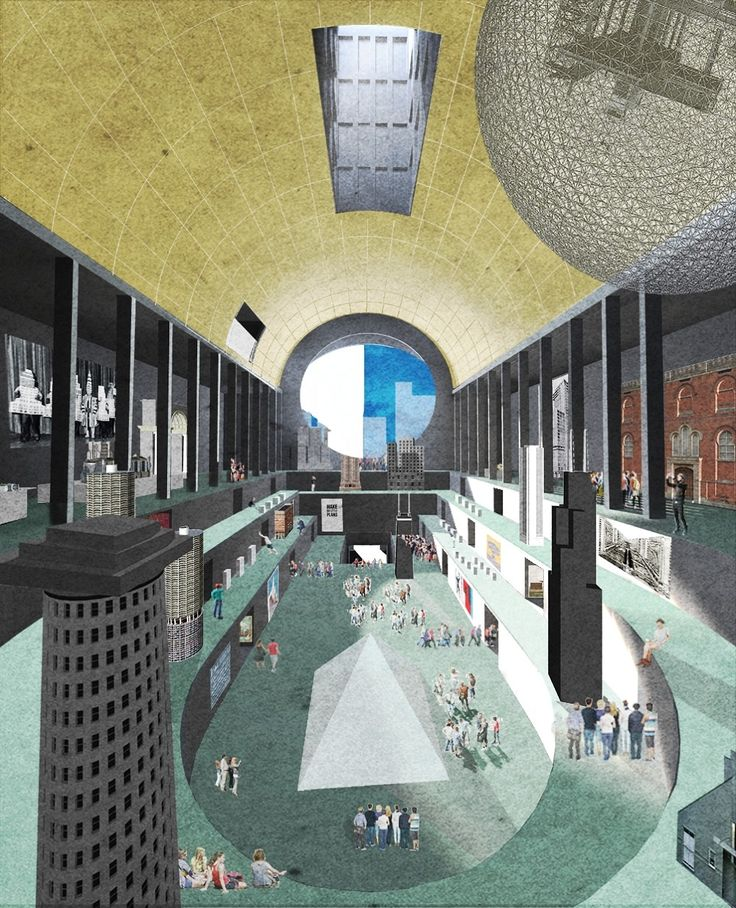Winning competition entry by Monadnock for the Chicago Center for Architecture, Design and Education (CADE) with exhibition space for the Chicago Architecture Foundation and the office for the Council on Tall Buildings and Urban Habitat (CTBUH).