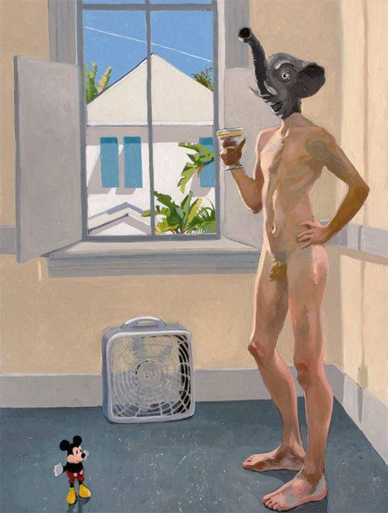 Майкл Костелло, Ганеша в Кей-Весте, живопись, США