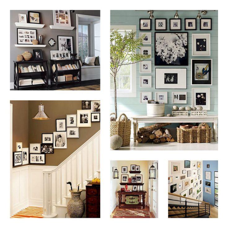 Photo display ideas.
