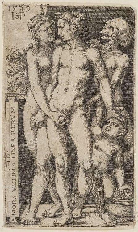 Hans Sebald Beham (1500 – 1550) Death and the Indecent Pair, 1520
