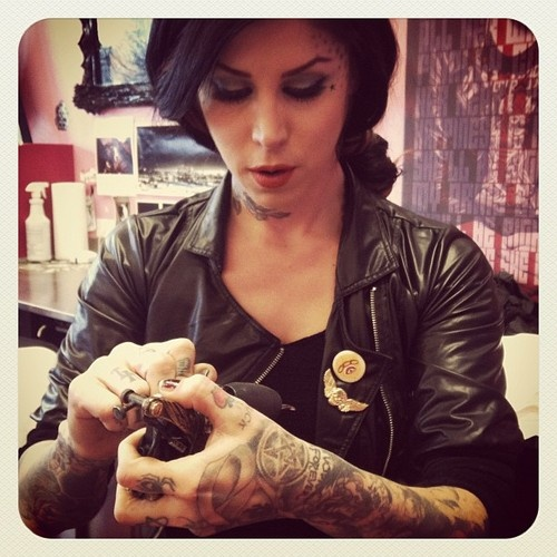 Kat Von D. Love her. Beautiful inside & out.