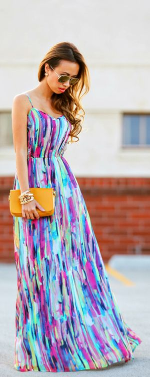 Colourful maxi dress By Lace & Locks