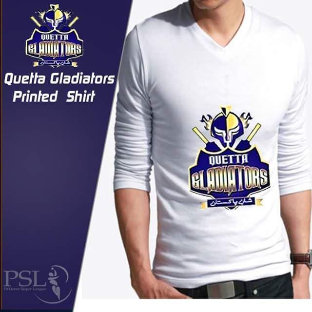 pk is bringing a deal of Quetta Gladiators Full Sleeves PSL Tshirt in such  low and affordable price which you'll not get in Pakistan.