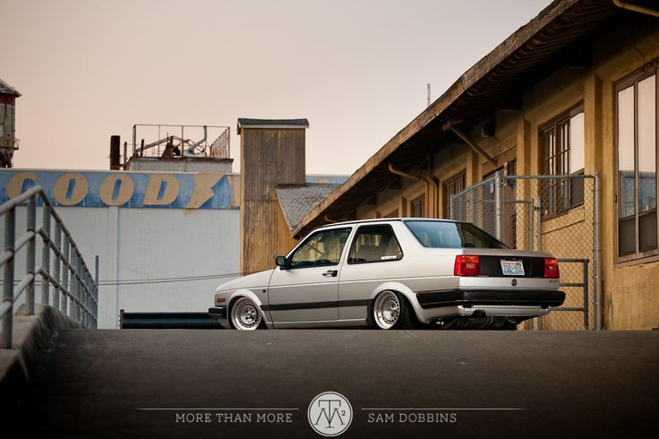 """Justin's Mk2 VW Jetta Coupe on 14"""" Schmidt TH Line's"""
