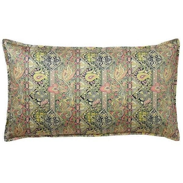 Pottery Barn Odelia Print Sham ($60) ❤ liked on Polyvore featuring home, bed & bath, bedding, bed accessories, pottery barn pillow shams, pottery barn shams, pottery barn bed linens, paisley duvet and paisley bedding