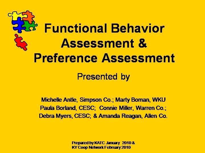 Best Functional Behavior Assessment Images On