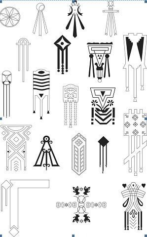 Dacian symbols on houses from Romania