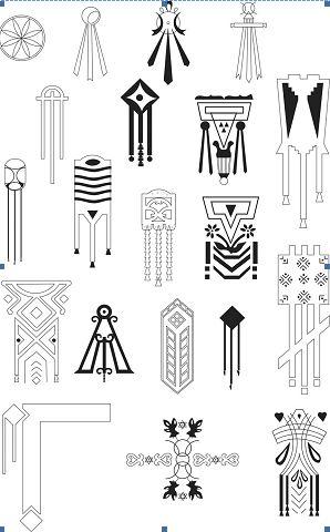 Dacian symbols on houses from Romania